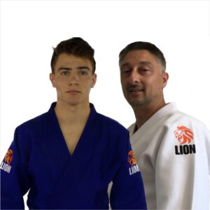Lion judogi 750 Authentic white and blue men