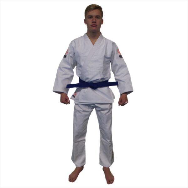 lion judogi white 550 talent gi front