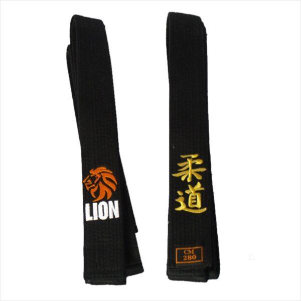 Lion judo belt black