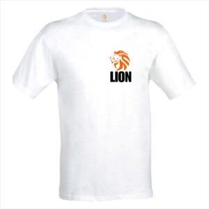 Lion T-shirt judo original white men
