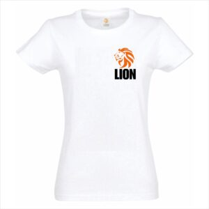 Lion T-shirt judo original white women