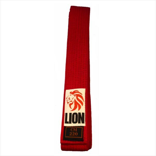 Lion belt red judo ju-jitsu jiu-jitsu