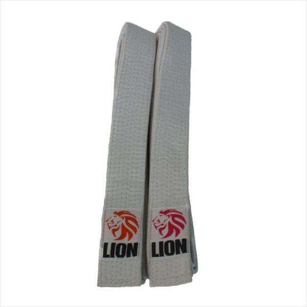 Lion belt white judo ju-jitsu jiu-jitsu