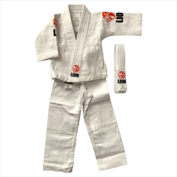 lion baby judogi orange