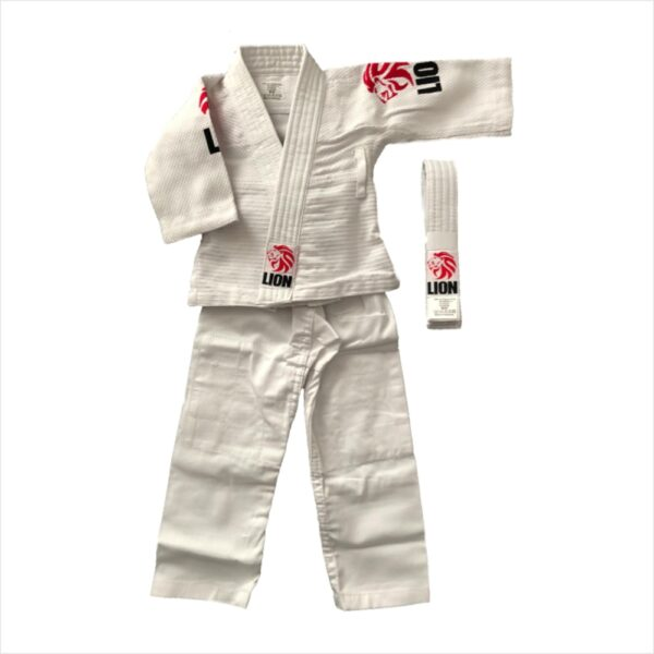 lion baby judogi red