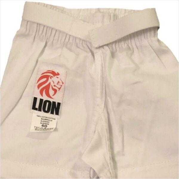 lion baby judogi pants with velcro