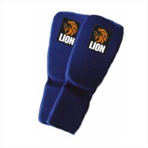 Lion ju-jitsu jiu-jitsu shin-footguard blue