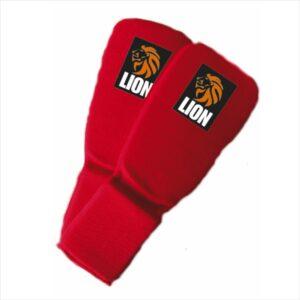 Lion ju-jitsu jiu-jitsu shin-footguard red